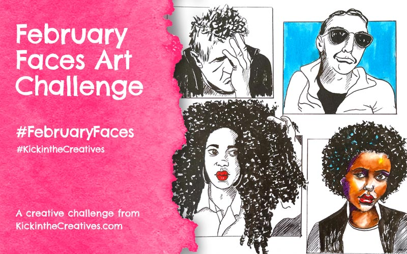 February Faces Drawing Challenge