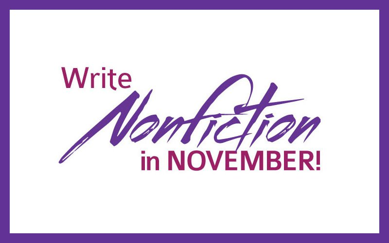 NaNonFiWriMo (WNFIN) National Nonfiction Writing Month