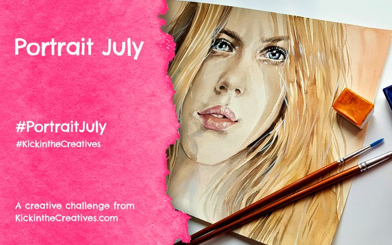 Portrait July Face Drawing Challenge