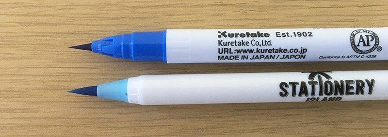 Kuretake vs Stationery Island Brush pens