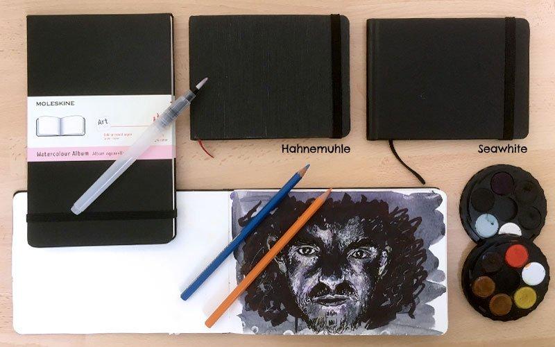 moleskine watercolour sketchbook seawhite Hahnemuhle