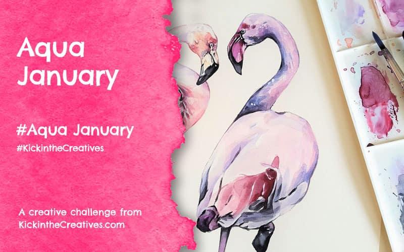 Aqua January – Daily Watercolor Painting Challenge
