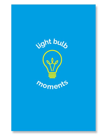 Light bulb Blue notebook