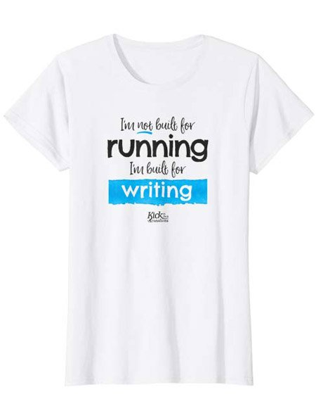 running writing humor t-shirt