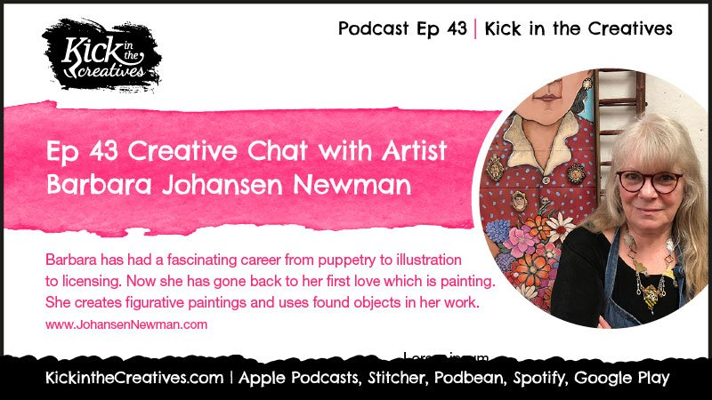 ep43 podcast Artist and illustrator Barbara Johansen Newman