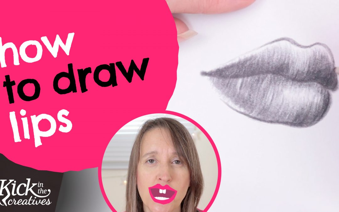 Lip drawing tutorial for beginners – Realistic and Simplified