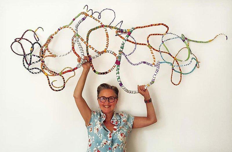 Lynne's Textiles - crazy plastic