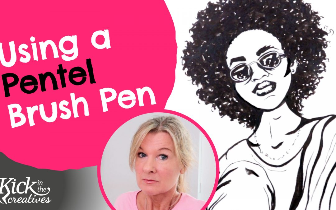 Brush Pen Drawing Tutorial Using a Pentel Pocket Brush Pen