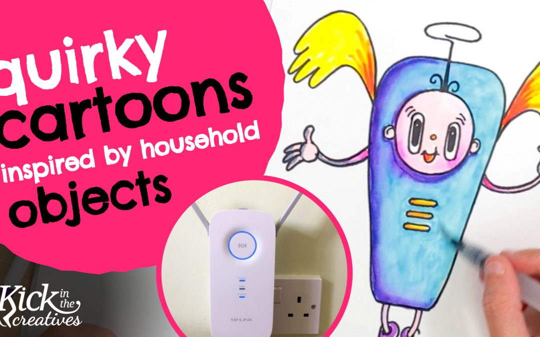 Quirky Cartoon Ideas Inspired by Household Objects