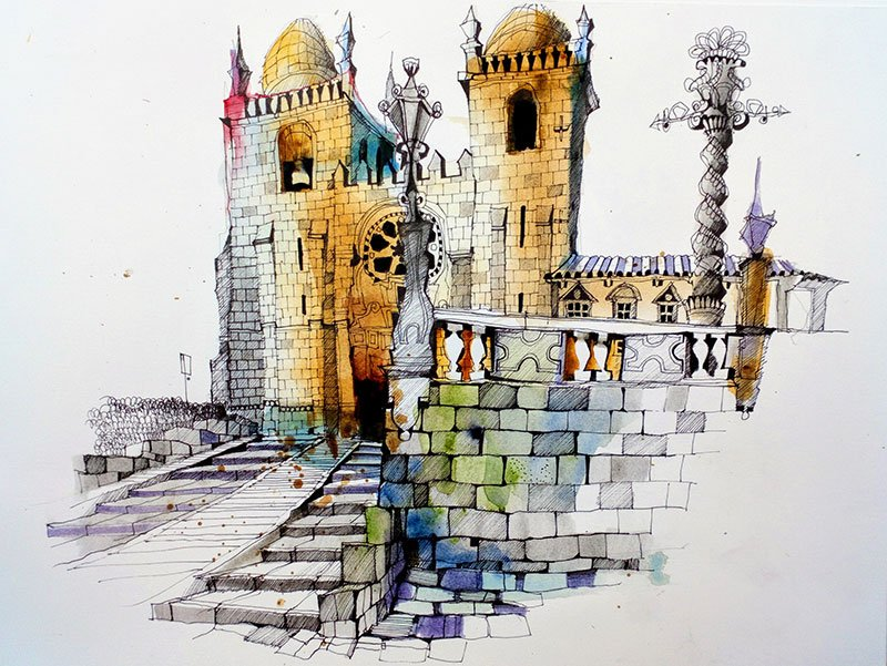 Se do Porto - Ian Fennelly Urban sketch