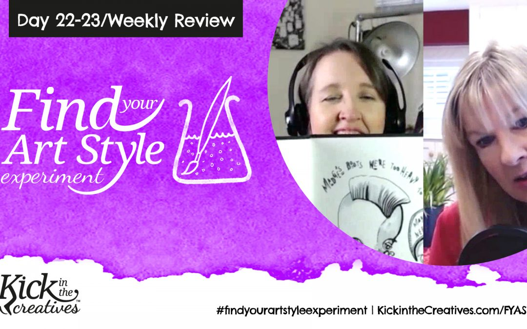 Find Your Art Style Experiment Day  22/23 – Weekly Review