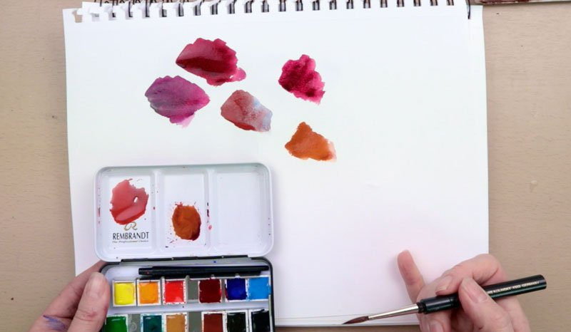 transparent versus opaque watercolours