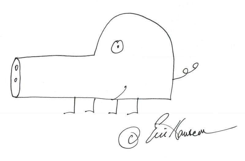 Eric pig drawing
