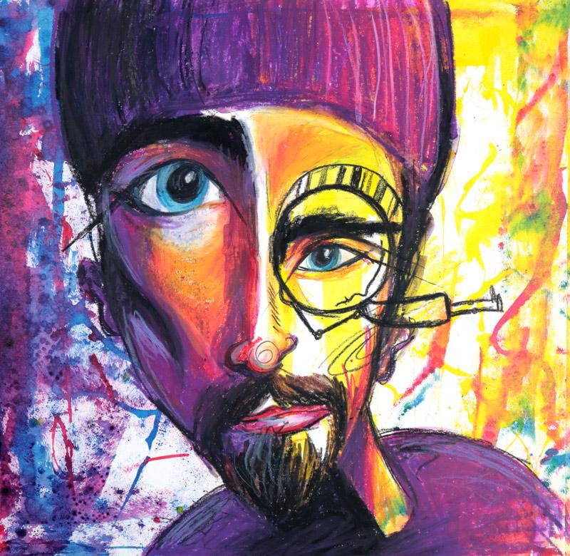 Final abstract face art