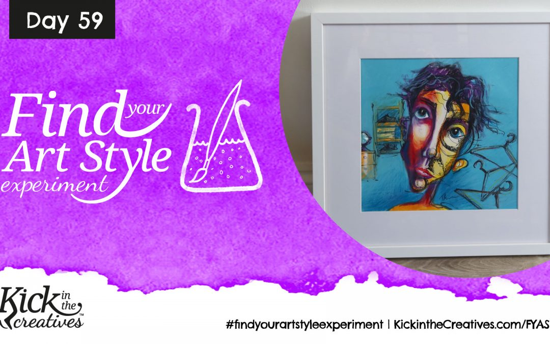 Find Your Art Style Experiment Day 59 – Framing Up a Piece of Art