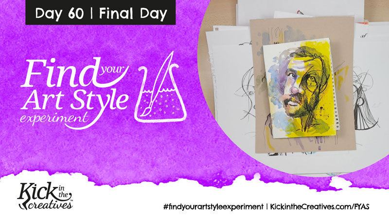 Find Your Art Style Experiment Day 60 – Final Day Art Flip Through