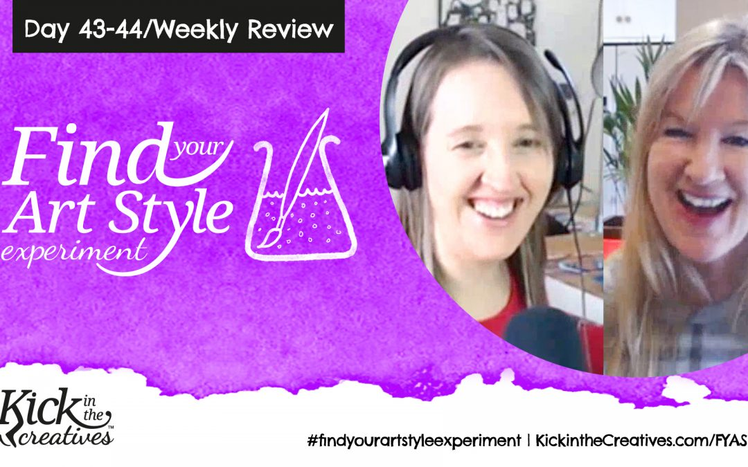 Find Your Art Style Experiment Day  43/44 – Weekly Review