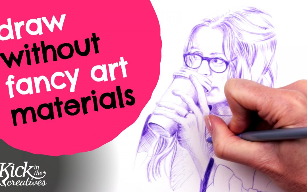 Draw Without Fancy Art Materials – Use a Simple Biro Pen