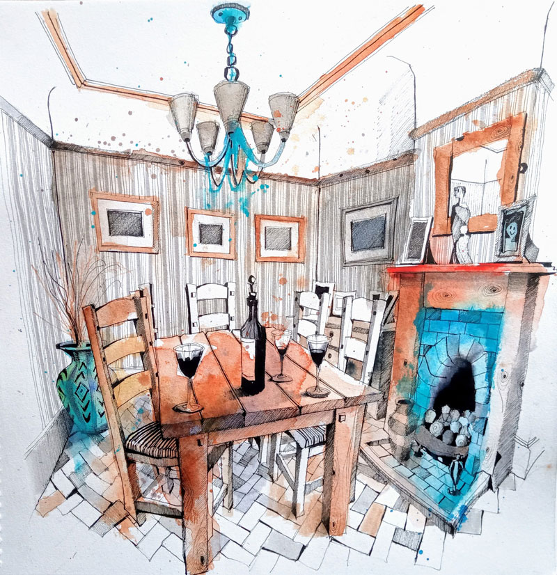 Ian Fennelly Interior painting dining room