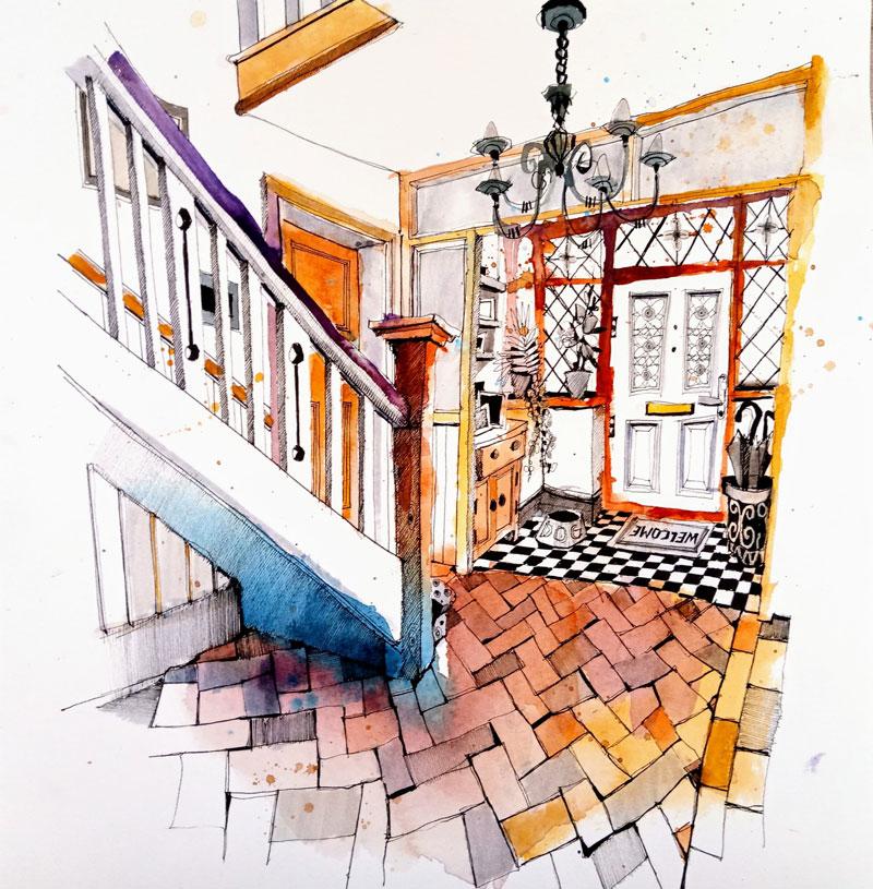 Ian Fennelly Interior painting hallway