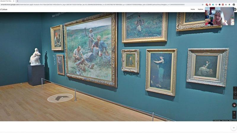 Van Gogh virtual art gallery