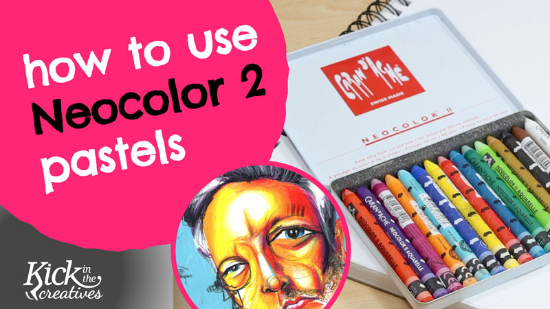 How to use Caran D'ache Neocolor ii Water Soluble Wax Pastels