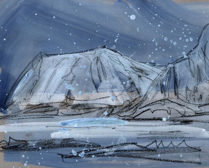 Norway Blue hour landmass