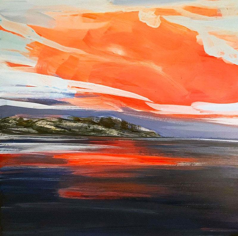 Polar Twighlight painting