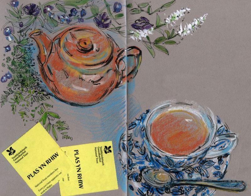 Wales tea sketch