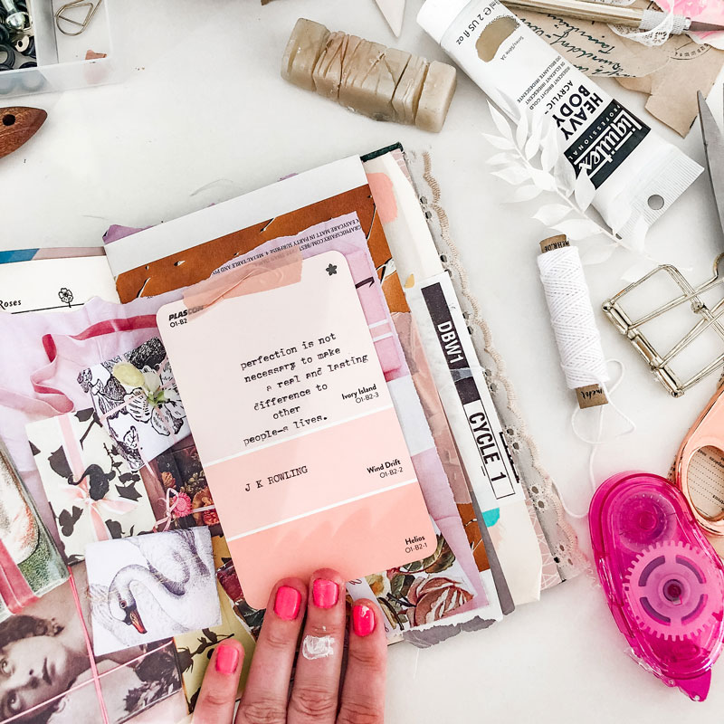 caylee grey art journal spread