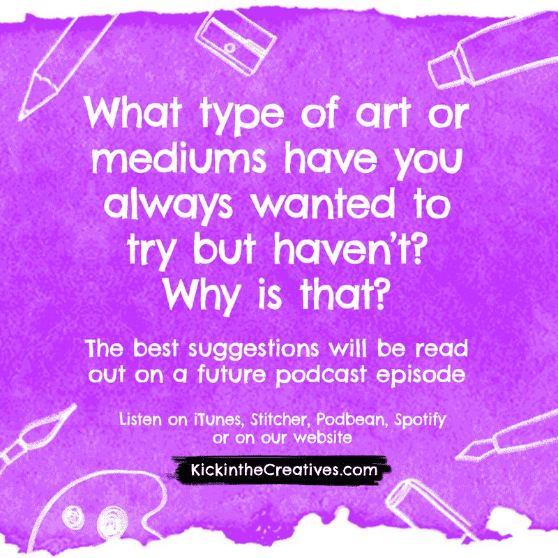 question art mediums
