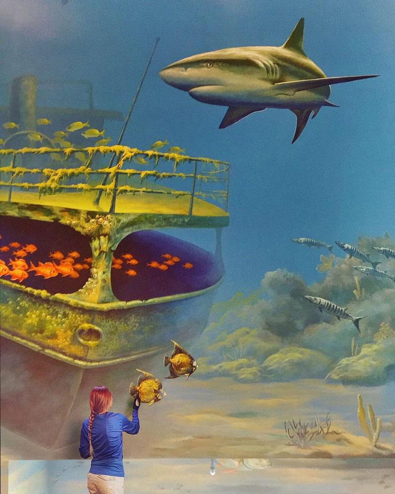 Shark mural