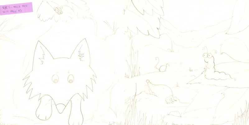 rough page layout childrens book
