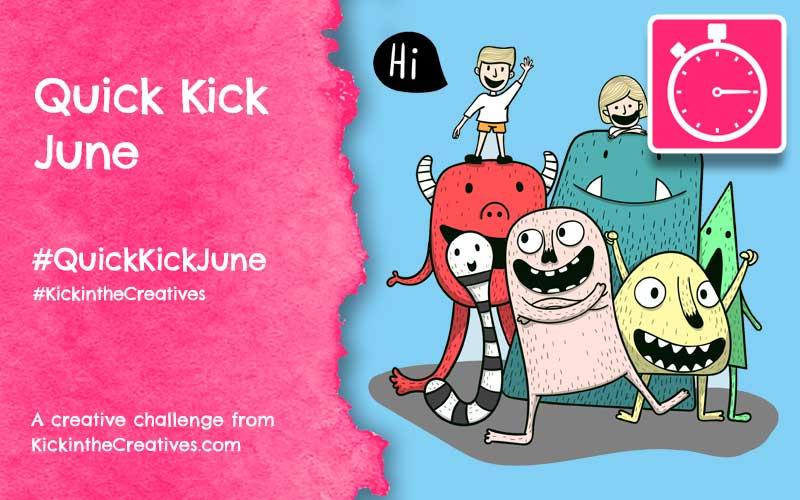 Quick Kick June Cartoon Challenge