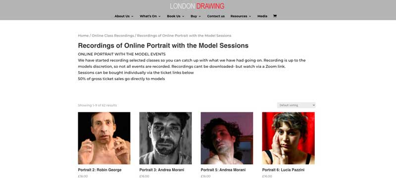 portrait drawing sessions